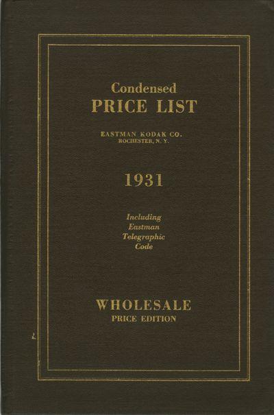Rochester: Eastman Kodak Company, 1931. 8vo., 48, 11 pp., each printed leaf is interleaved with 2 sh...