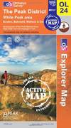 image of The Peak District - White Peak Area (OS Explorer Map Active)