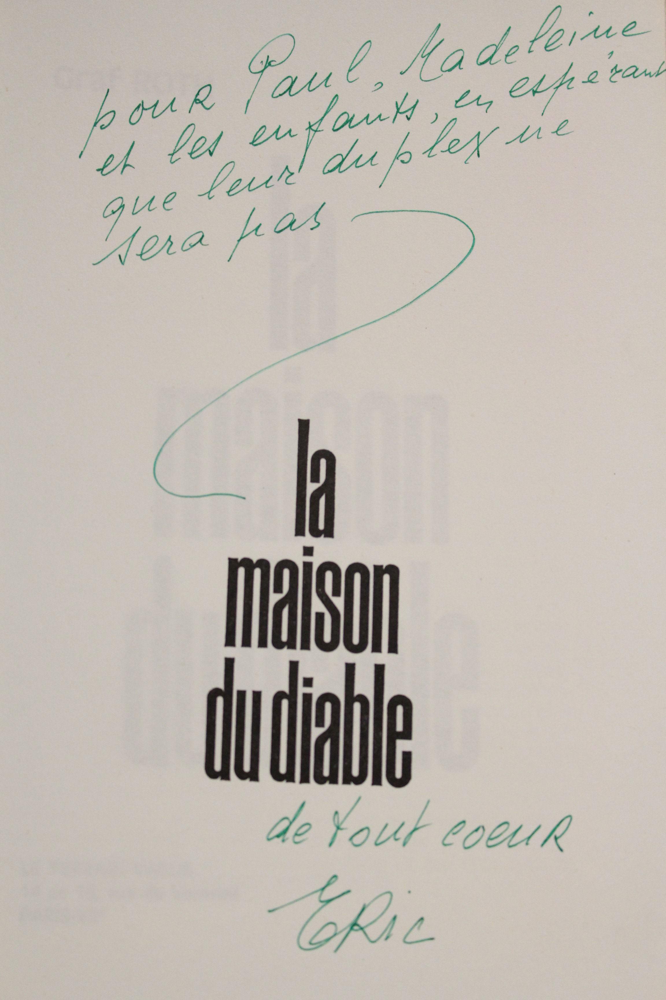 La maison du diable edition originale envoi autographe by for Amityville la maison du diable