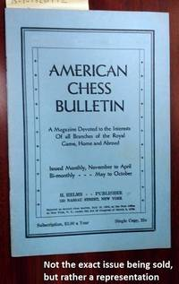 AMERICAN CHESS BULLETIN. VOL. 28, NO. 8, NOVEMBER 1931