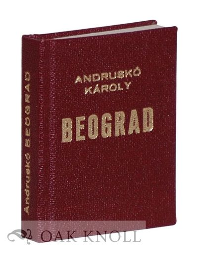 Senta, Yugoslavia: (Stampa Mladi Graficar), n.d.. faux leather. Miniature Book. miniature book(5,0 b...