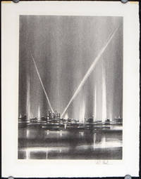 Untitled lithograph (sky illuminated by spotlights).