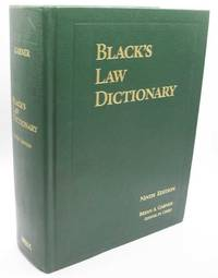 image of Black's Law Dictionary Ninth Edition
