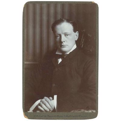Portrait of Winston Churchill...