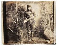 image of Rare Positive Glass Plate Portrait Photograph by Ben WITTICK (Chiricahua Raider and U.S. Apache Scout)]