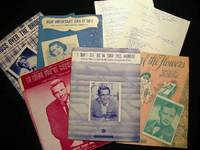 1941 - 1965 Collection of Sheet Music & Lyrics By Bennie Benjamin (with) Related Promotional & Biographical Paperwork
