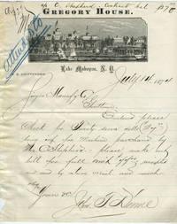 Gregory House, Lake Mahopac, NY: Illustrated Letterhead