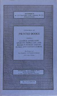 Sale 15 March 1979: Printed Books, General Literature, Sporting Books, Law  and Books in Russian and on Russian and Eastern Europe.