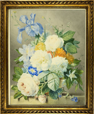 Still life with a variety of flowers.