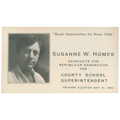Susanne W. Homes, Candidate for...