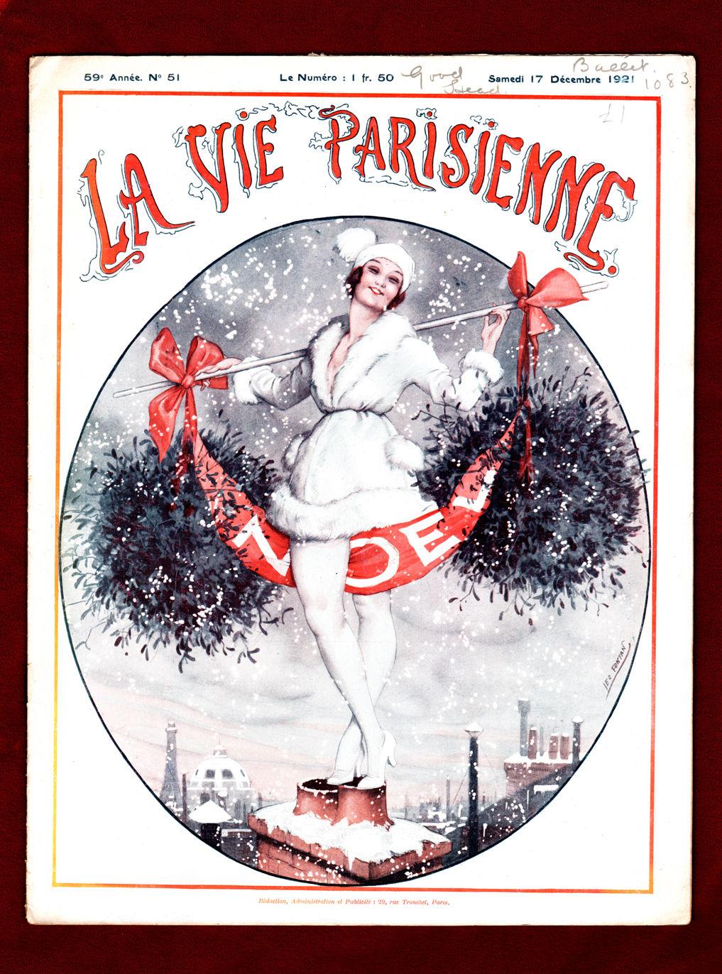la vie parisienne samedi 17 decembre 1921 art deco nouveau illustrations by leo fontan. Black Bedroom Furniture Sets. Home Design Ideas
