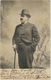 Autograph Note Signed on a Self-Portrait Postcard Photograph,   n.p., n.d.