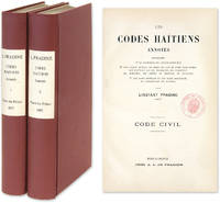 Les Codes Haitiens Annotes, Contenant 1, La Conference des Articles.. by  Editor  Linstant  - 1892  - from The Lawbook Exchange Ltd (SKU: 64386)