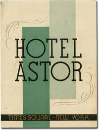 image of Lunch menu for the Hotel Astor, Times Square, New York City, Wednesday October 7, 1936