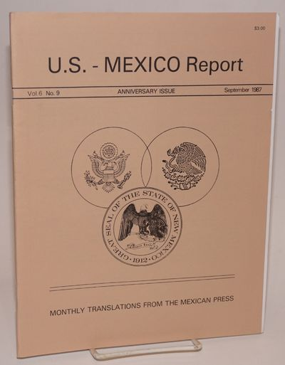 Las Cruces: Joint Border Research Inst./Center for Latin american Studies, 1987. 38p., 8.5x11 inches...