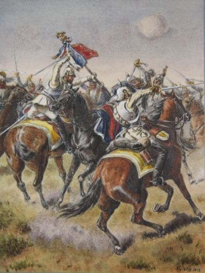 1919-1921. Half Morocco. . Fine. Manuscript containing 84 original mounted watercolors depicting the...
