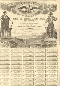Comet Mining Company Certificates 1883