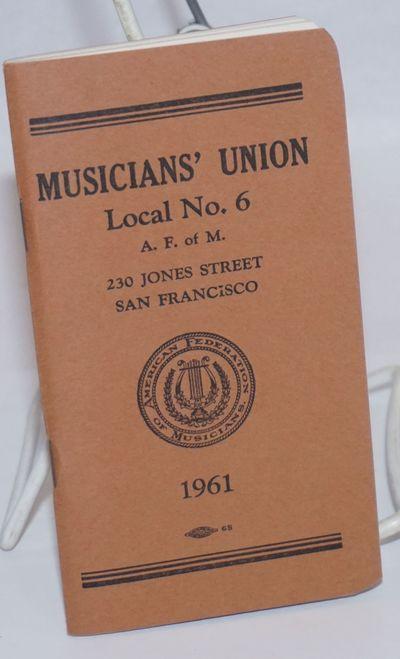 San Francisco: AF of M., 1961. Paperback. 83p., very good in wraps, staplebound pocketbook format. I...