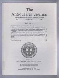 The Antiquaries Journal, Being the Journal of The Society of Antiquaries of London, Volume LXIII, 1983, Part I