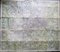 W.H. Smith and Son's Map of Environs of London, Scale 1 Mile to an Inch, Mounted on Cloth.