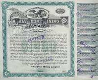 Daly Judge Mining Company Stock Certificate