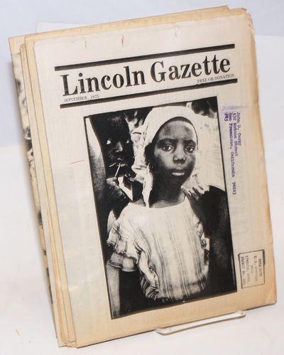 Lincoln, Nebraska, 1975. Newspaper. Six issues of the tabloid format newspaper, address stamp on cov...