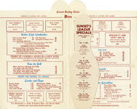 Menu for the Sunset Bowling Center