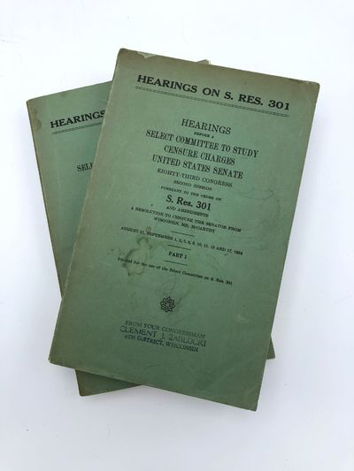 Washington, D. C.: Government Printing Office, 1954. Two volumes, 8vo. Original printed wrappers, wi...