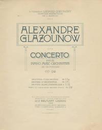 [Op. 92]. Piano Concerto No. 1 in F minor [2-piano reduction] Concerto pour piano avec orchestre en fa mineur, Op. 92 ... Partie de piano avec second piano