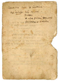 [Carmina] ad Hieronymum Sanvitalem Salae Principem. Autograph (?) manuscript on paper. [Reggio Emilia?], first half of the 16th century