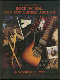 ROCK 'N' ROLL AND POP CULTURE AUCTION - NOVEMBER 6, 1992 In Beverly Hills,  California