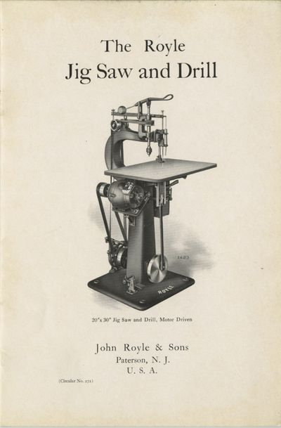 Paterson, NJ: John Royle & Sons, 1915. 8vo., 20 pp., illustrated from b&w photographs. Printed stiff...