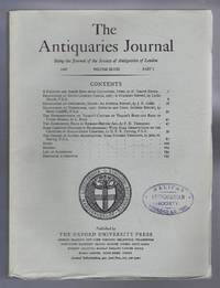 The Antiquaries Journal, Being the Journal of The Society of Antiquaries of London, Volume XLVIII, 1968, Part I
