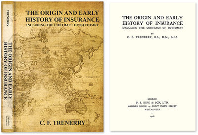 2010. ISBN-13: 9781584779322; ISBN-10: 1584779322. The Ancient and Medieval Roots of Insurance Trene...