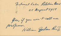 Autograph Note Signed