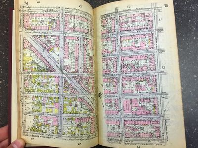 New York: E. Belcher Hyde, 1912. First Edition. Hardcover. Octavo, 36 pages, 675 pages of color maps...