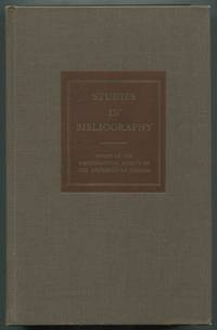 image of Studies in Bibliography: Papers of the Bibliographical Society of the University of Virginia: Volume Twenty-Two