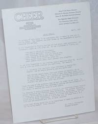CHEER: Center of Homosexual Education & Research [open letter] Aging Project, April, 1978