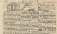 One of the Nation's First Ever Political Cartoons, the Federal Pillars, Celebrating the Ratification of the Constitution This rare printing shows South Carolina's ratification, forecasts Virginia's eventual ratification, and shows the pillars prominently at the top of the page