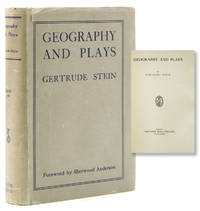Geography and Plays. Foreword by Sherwood Anderson