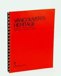 Vancouver's Heritage: Twenty-Two (22) Buildings and Two Historic Areas - 1 (One)