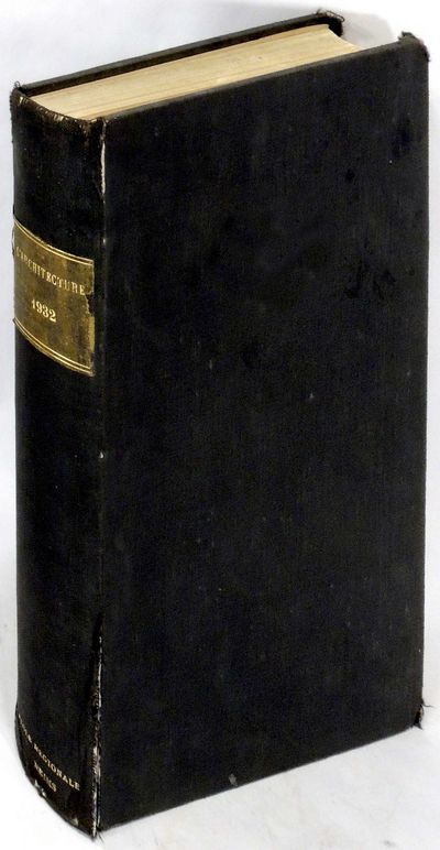 L'Architecture, 1932. Hardcover. Very Good. Hardcover. Includes all twelve issues from 1932. Ex-libr...