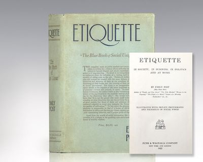 New York: Funk & Wagnalls Company, 1922. First edition of this seminal work in etiquette and persona...