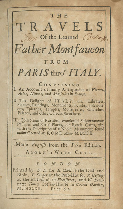 London: Printed by D. L. for E. Curll, E. Sanger, R. Gosling, and W. Lewis, 1712, 1712. First editio...
