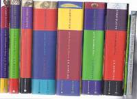 Harry Potter & Philosopher's Stone (aka Sorcerer's ) Chamber of Secrets Prisoner of Azkaban Goblet of Fire Order of Phoenix Half Blood Prince Deathly Hallows -book 1 2 3 4 5 6 7 -SEVEN Volumes & Tales of Beedle the Bard & Quidditch Through Ages -9 Vols.