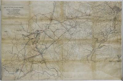 Washington, D.C.: Bureau of Topographical Engineers, 1879. A War Department map showing with blue an...