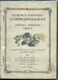 Science-Fantasy Correspondent / January-February 1937.  H.P. Lovecraft, Forrest Ackerman, Robert Bloch