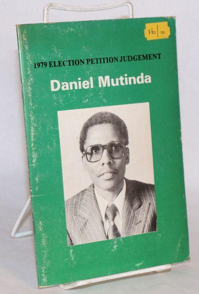 Nairobi: Stellascope Publishing Co. Ltd, 1983. Pamphlet. 39p., first edition staplebound 8x5.5 inch ...