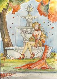 Manuela Soriani Autumn Breeze Original Fantasy Art