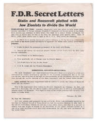 F.D.R. Secret Letters. Stalin and Roosevelt plotted with Jew Zionists to divide the World